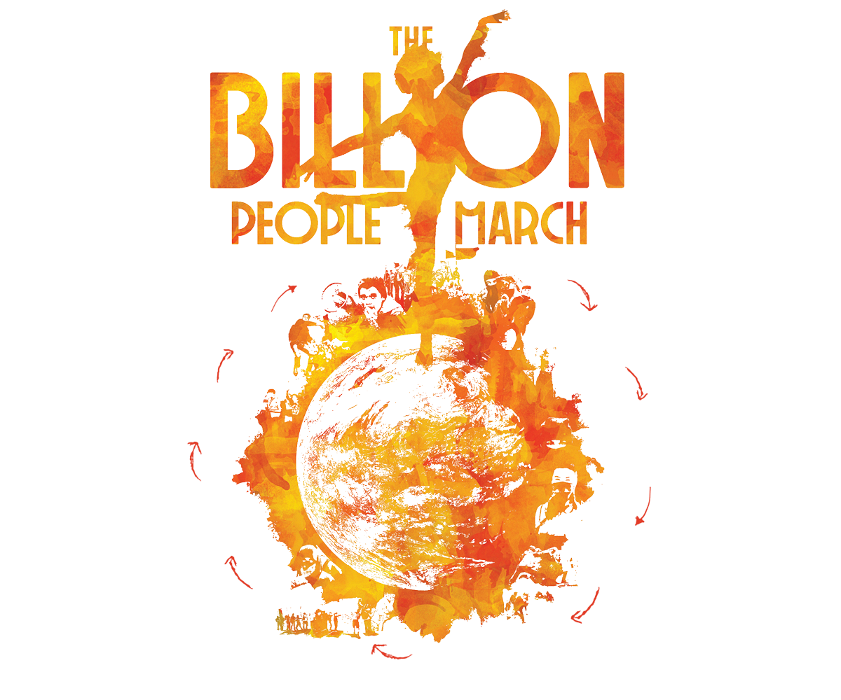 #BILLIONPEOPLEMARCH